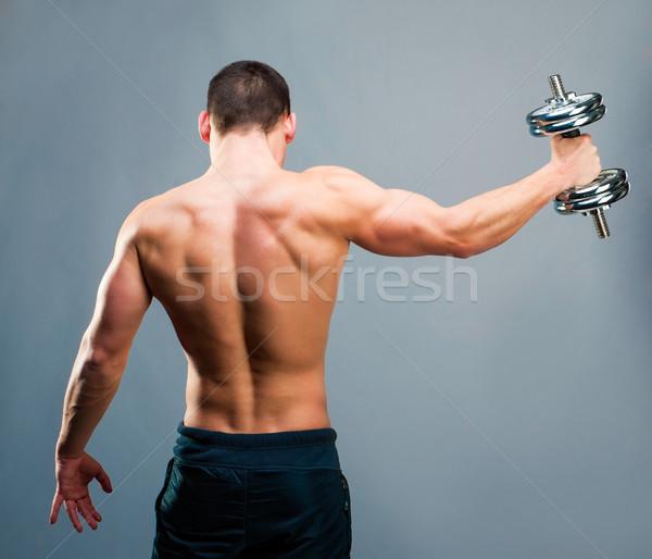 мышечный человека вид сзади молодые мужчины Культурист Сток-фото © GekaSkr