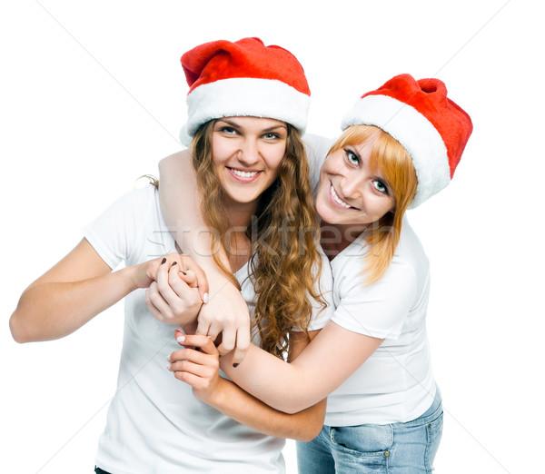девочек Hat два изолированный белый Сток-фото © GekaSkr