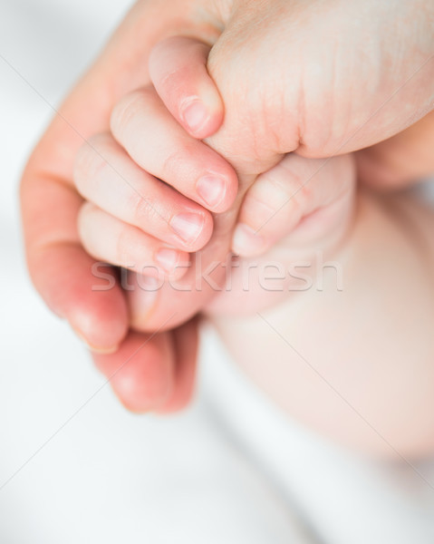 Bébé mères doigt main femme Photo stock © GekaSkr
