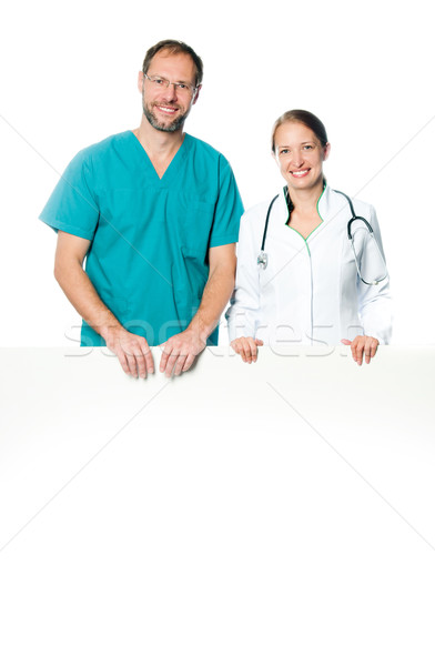 doctors holding  blank board Stock photo © GekaSkr