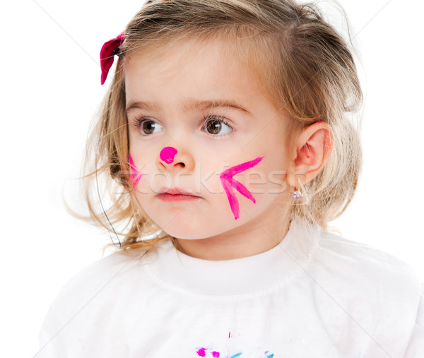 girl with face in paint Stock photo © GekaSkr