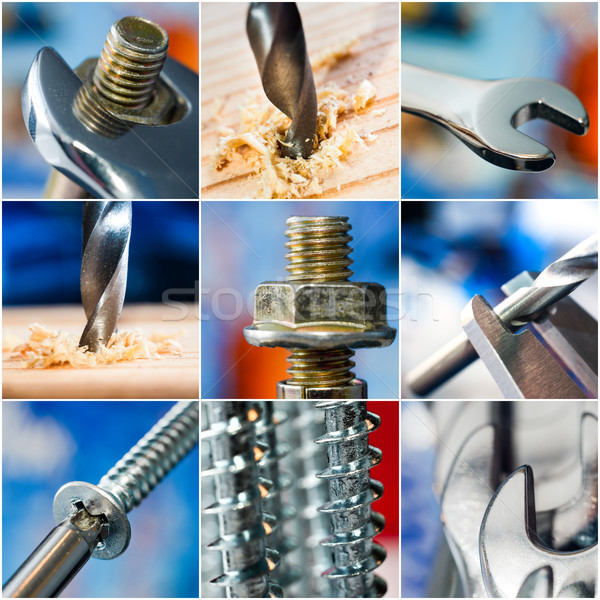 Técnico diferente madeira construção tecnologia indústria Foto stock © GekaSkr