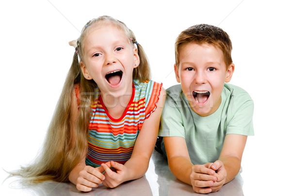 笑顔 幸せ 子供 子 背景 友達 ストックフォト © GekaSkr