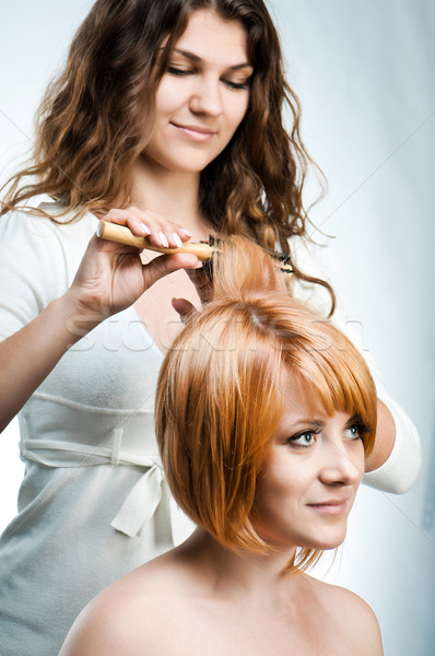 Barbeiro trabalhar isolado jovem moda mulher Foto stock © GekaSkr