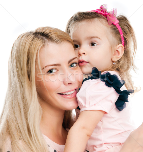 Anne kız küçük beyaz kadın kız Stok fotoğraf © GekaSkr