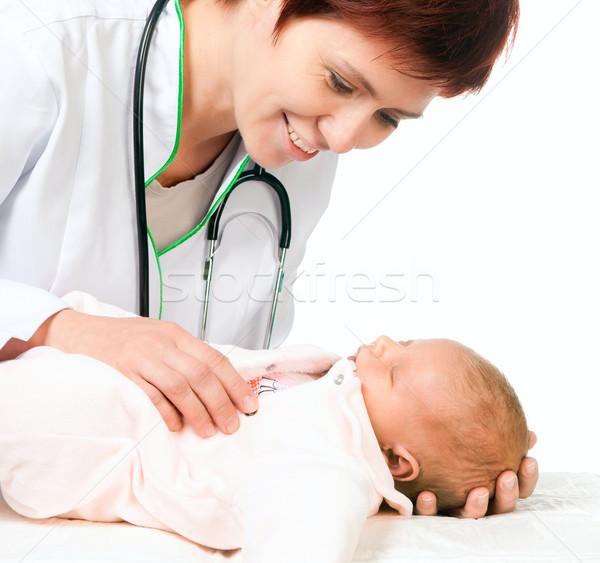 врач ребенка Lady белый детей медицинской Сток-фото © GekaSkr