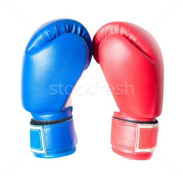 Boxkesztyűk izolált fehér sport fitnessz doboz Stock fotó © GekaSkr