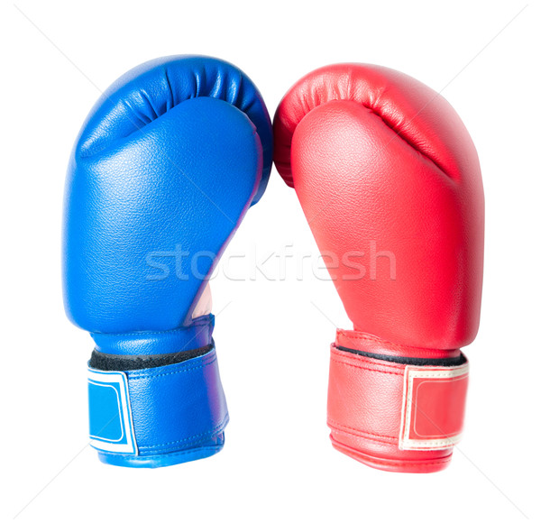 Luvas de boxe isolado branco esportes fitness caixa Foto stock © GekaSkr