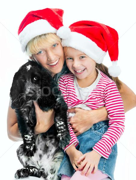 Rodziny piękna mamusia mały uśmiechnięty Zdjęcia stock © GekaSkr