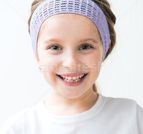 красивой девочку портрет улыбаясь ребенка Сток-фото © GekaSkr