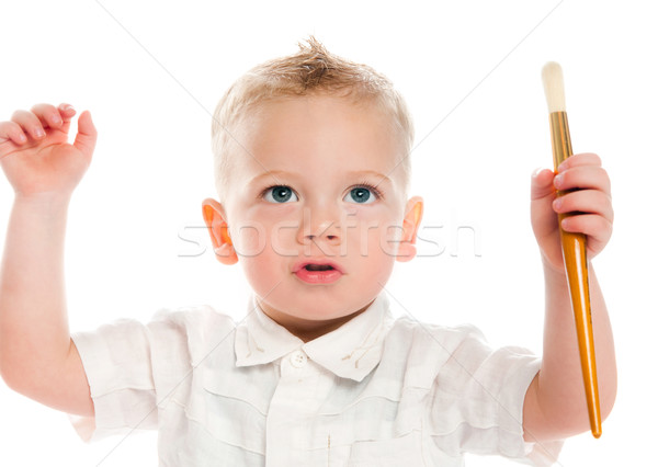 мальчика изолированный белый школы фон весело Сток-фото © GekaSkr