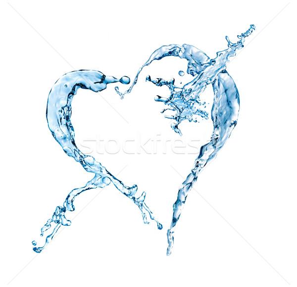 Kształt serca odizolowany biały wody serca Zdjęcia stock © GekaSkr