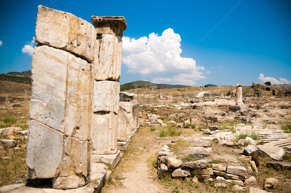 Starożytnych ruiny Turcja drogowego budynku wygaśnięcia Zdjęcia stock © GekaSkr