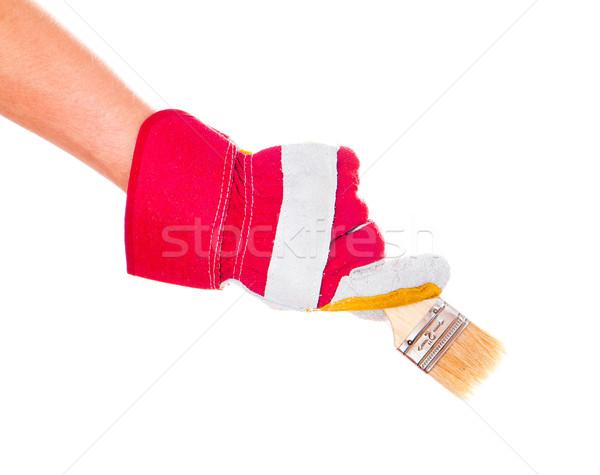 gloved hand with brush Stock photo © GekaSkr