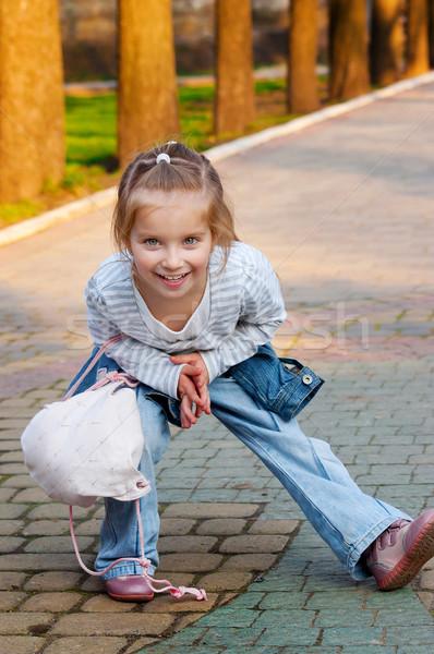 Little girl recreio bonitinho ao ar livre equipamento cara Foto stock © GekaSkr
