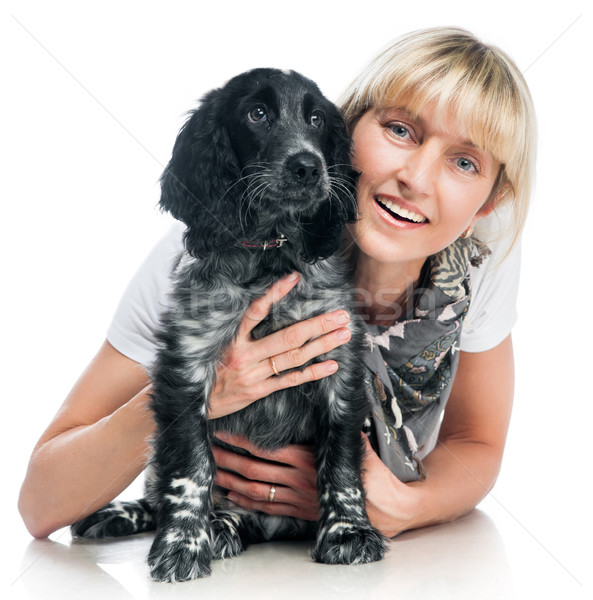 cocker spaniel and young woman Stock photo © GekaSkr
