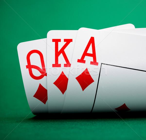 トランプ 緑 表 カジノ 中心 背景 ストックフォト © GekaSkr