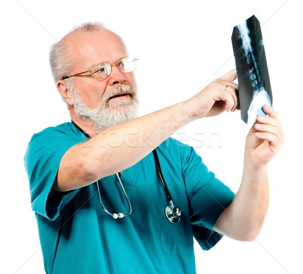 Doctor looking  x-rays Stock photo © GekaSkr