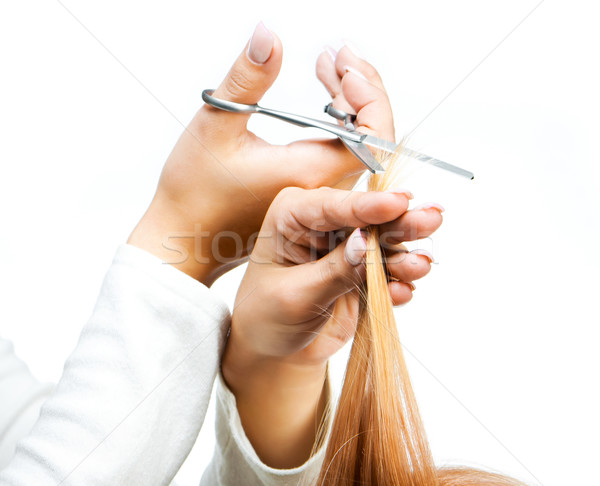 Cabeleireiro molhado cabelo salão de beleza Foto stock © GekaSkr