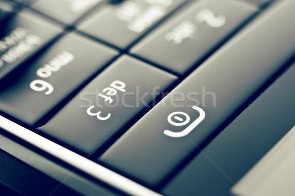 Telefone botões vidro botão estilo retro Foto stock © GekaSkr