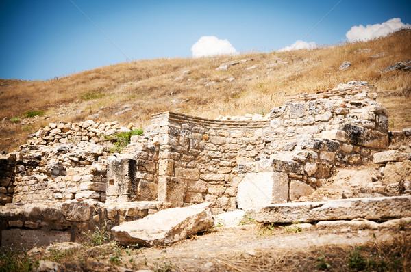 древних руин Турция дороги здании закат Сток-фото © GekaSkr