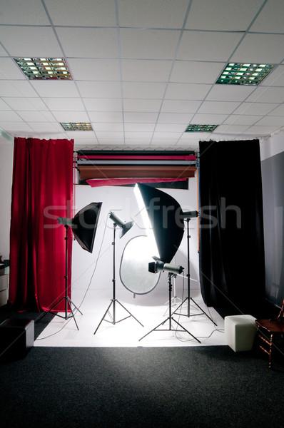 фото студию осветительное оборудование моде свет лампы Сток-фото © GekaSkr