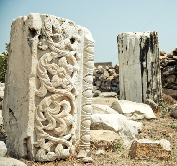 large stone with carvings Stock photo © GekaSkr