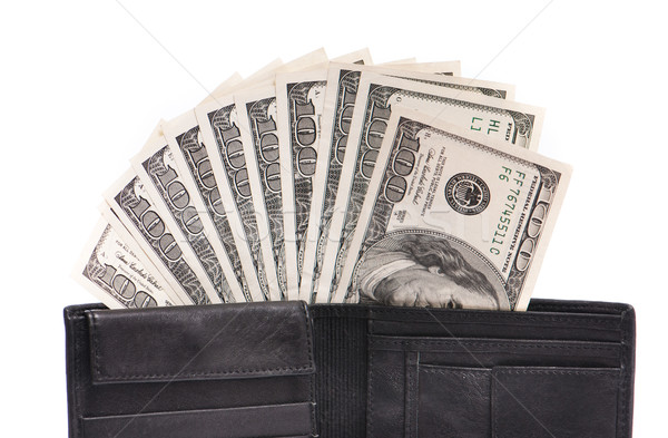 бумажник деньги кожа долларов белый бизнеса Сток-фото © GekaSkr