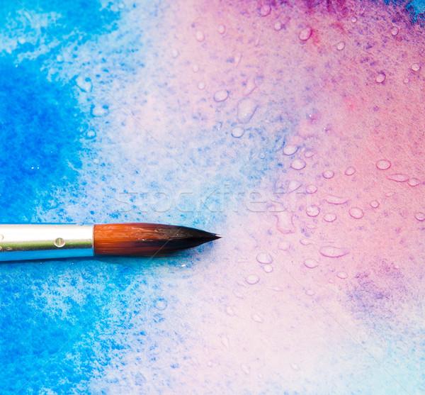 щетка красочный аннотация искусства синий чернила Сток-фото © GekaSkr
