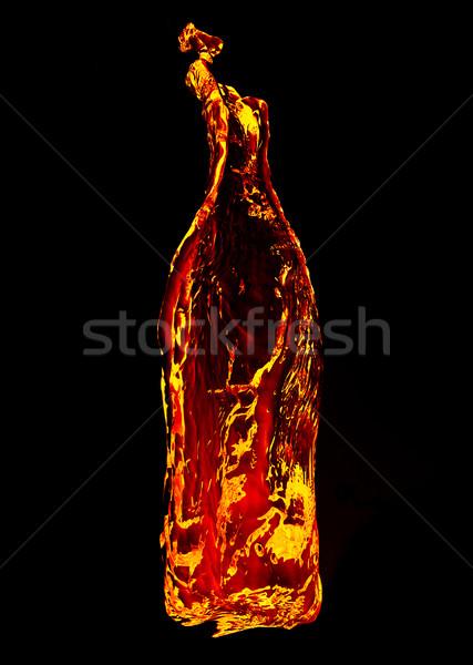fire in the shape of a bottle Stock photo © GekaSkr