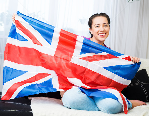 girl with british flag Stock photo © GekaSkr