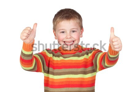 Adorable child with thumbs up  Stock photo © Gelpi