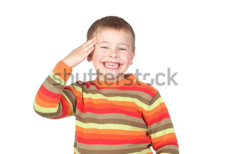 Funny child covering his eyes Stock photo © Gelpi