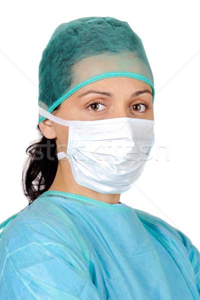 Lady врач привлекательный белый бизнеса женщину Сток-фото © Gelpi