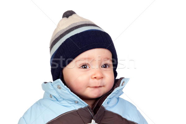 Beautiful baby with wool cap Stock photo © Gelpi