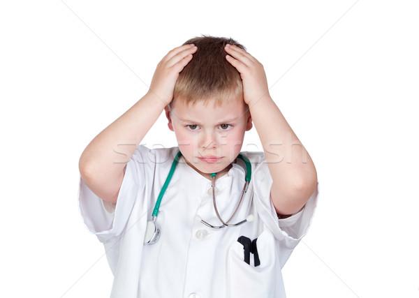 ребенка врач равномерный изолированный белый Сток-фото © Gelpi
