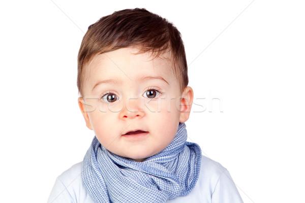 красивой ребенка Nice глазах изолированный белый Сток-фото © Gelpi