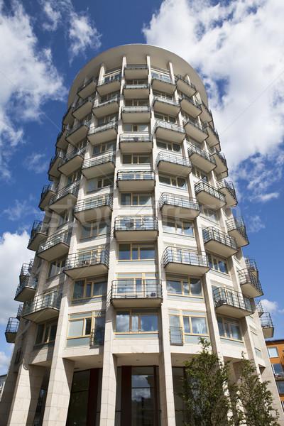 Modern bina birkaç inşaat tuğla mimari gayrimenkul Stok fotoğraf © gemenacom