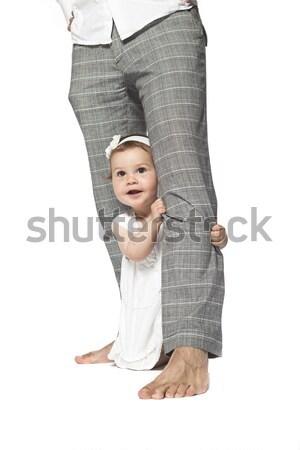 Happy baby at fathers legs Stock photo © gemenacom