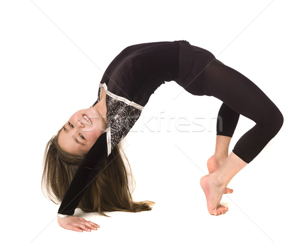 Young girl doing gymnastics Stock photo © gemenacom