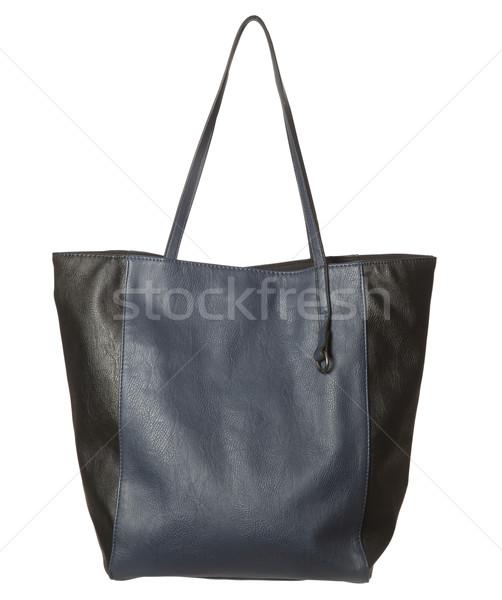 Bleu bourse isolé blanche design rouge Photo stock © gemenacom