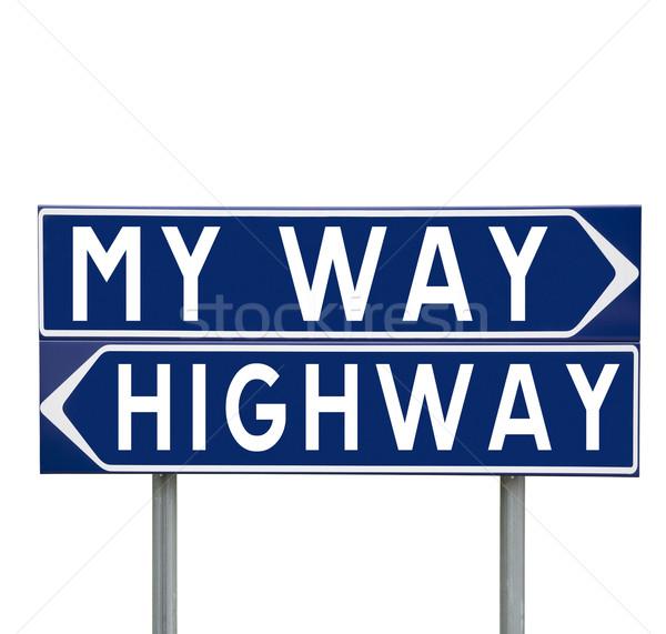 My Way or the Highway Stock photo © gemenacom