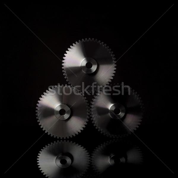 Przemysłu koła czarny technologii moc maszyny Zdjęcia stock © gemenacom