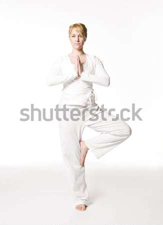 Woman doing yoga Stock photo © gemenacom