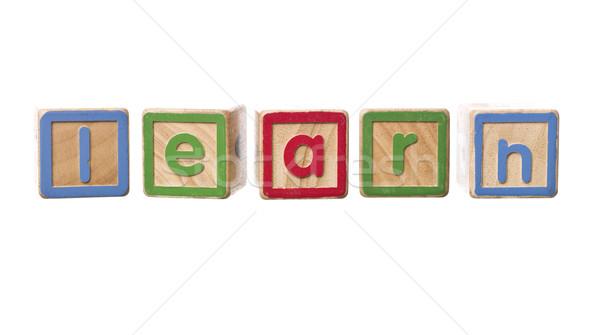The word learn built by Play Blocks Stock photo © gemenacom