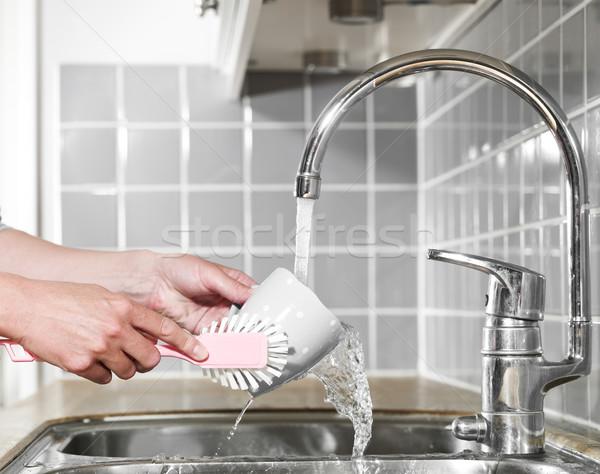 Washing a coffee cup Stock photo © gemenacom