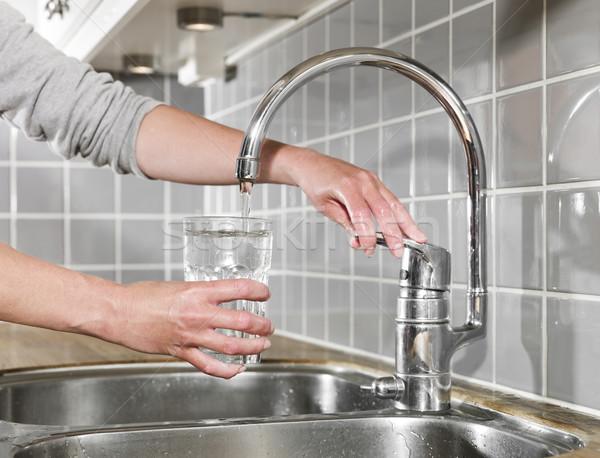 Filling a glass of water Stock photo © gemenacom