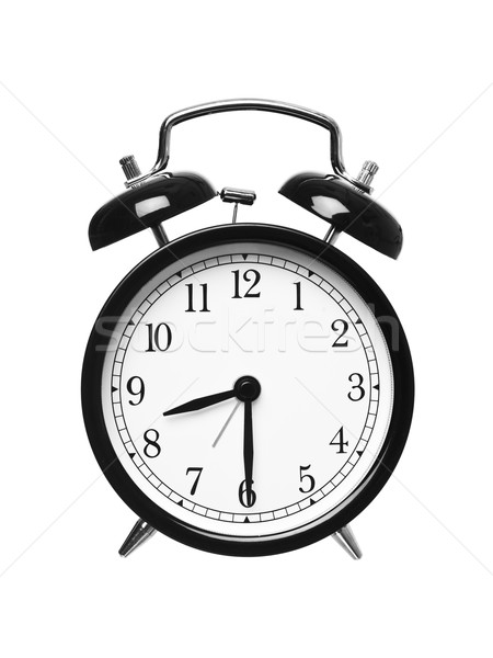 Mitad pasado ocho despertador aislado blanco Foto stock © gemenacom
