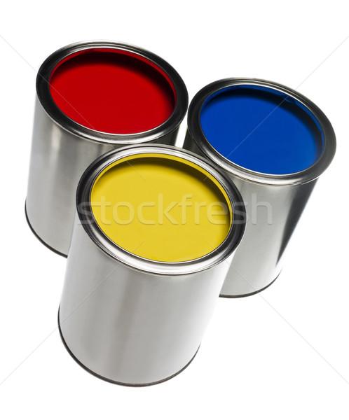 Three Paint Cans Stock photo © gemenacom
