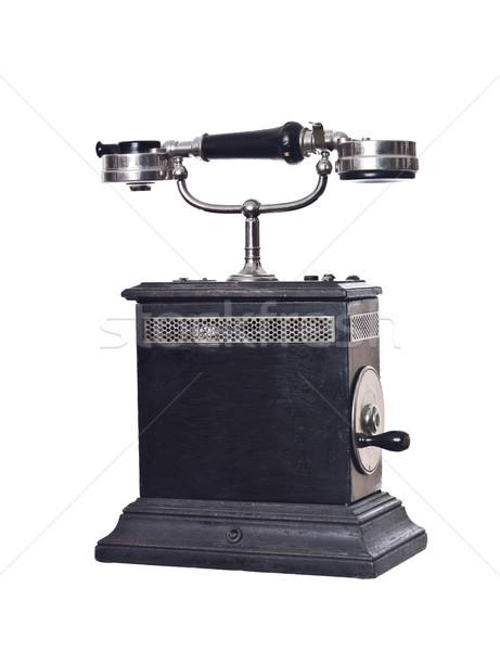 Klasszikus telefon izolált fehér iroda kábel Stock fotó © gemenacom